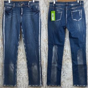 Cartise Metallic Silver Painted Blue Jean Artistic